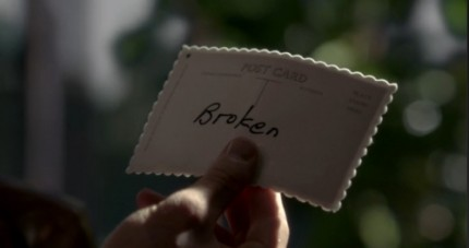 Once Upon a Time Season 2 Episode 1 Postcard from Storybrooke saying Broken