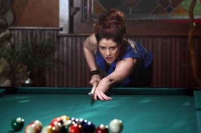 "Lacey (Belle) playing pool in 2x19 ""Lacey"""