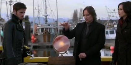 "On the pirate ship with a blood-stained globe, from the ""Join Forces"" Season 3 promo"
