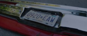 License plate from car driven by Wendy's brothers in 3x07 Dark Hollow