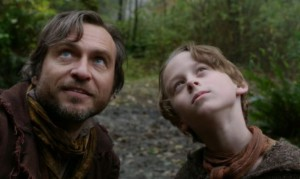 Young Rumple with his father in Neverland, before his father turned into Peter Pan