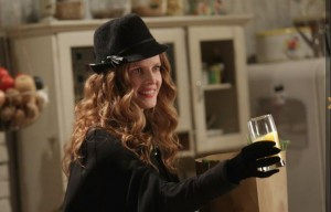 Uh, oh. Zelena is offering drinks again in the Charming household.