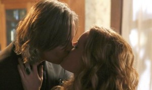 "A kiss in ""Bleeding Through,"" which aired April 20, 2014"