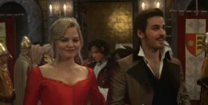 Emma and Hook in the season finale aired May 11, 2014